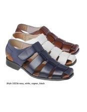 Sandals Leather Upper Available Navy Blue