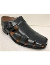 Style#JA17489 Mens Dress Sandals Dark Gray