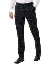 Mens Black Suit Pants Regular Fit
