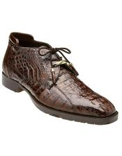 Gaylord Hornback Crocodile Ankle Boot Style: R19 - Brown