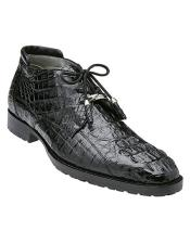 Gaylord Hornback Crocodile Ankle Boot Style: R19 - Black