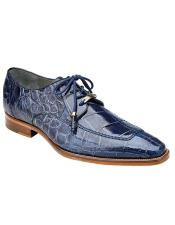 Lorenzo Split-toed Alligator Derby Shoes Style: B01 - Sky