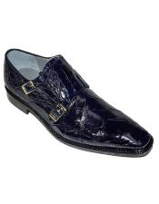 Belvedere Oscar Double Monk Strap Alligator