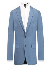 Light Blue 2 Piece Suit Slim Fit Notch Lapel