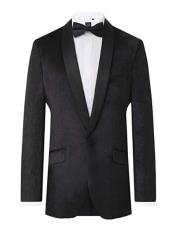 Black Velvet 2 Piece Tuxedo Slim Fit Shawl Lapel