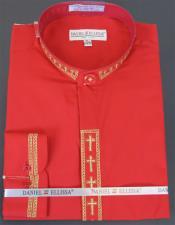 Red 2 Button Cuff Closure Shirt