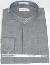 Ellissa Mens French Cuff Shirt Grey ~ Black