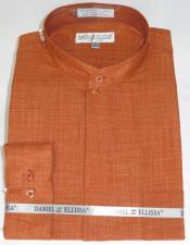 Ellissa Mens French Cuff Shirt Rust