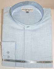 Ellissa Mens French Cuff Shirt Powder ~ Blue