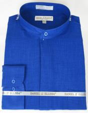 Ellissa Mens French Cuff Shirt Royal ~ Navy
