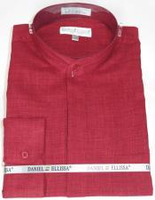 Ellissa Mens French Cuff Shirt Wine