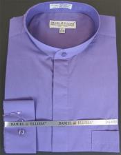 Ellissa Mens French Cuff Shirt Lavender