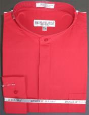 Ellissa Mens French Cuff Shirt Red