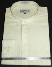 Ellissa Mens French Cuff Shirt Creme