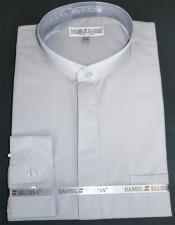 Ellissa Mens French Cuff Shirt Grey