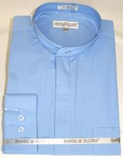 Ellissa Mens French Cuff Shirt LtBlue