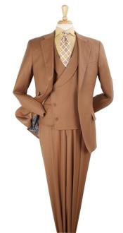 King Mens 3pc 100% Wool Classic Fit Suit -