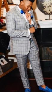 Mens Single Breasted Notch Lapel Suit