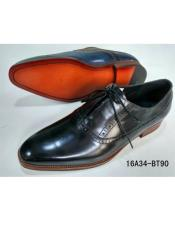 Mens Premium Leather Black Dress Shoe