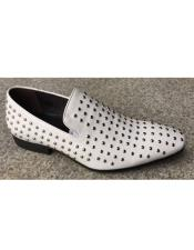 Mens Premium Leather Dress Two Toned Dress Shoe In