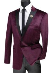 Ruby Peak Lapel Two Button Velvet Plaid ~ Window