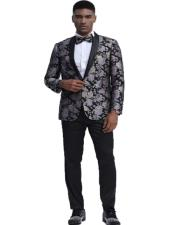 Fit Tuxedo Dinner Jacket Paisley ~ Floral Pattern Fashion