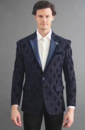 Navy One Button Closure Cheap Priced Blazer On Sale