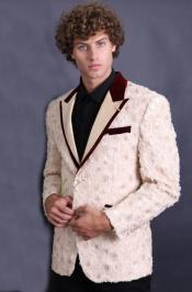 Cream Velvet finishes in collar and pockets Designer Fashion