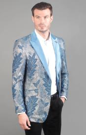 Blue Elegance Geo Print One Chest Pocket Cheap Priced