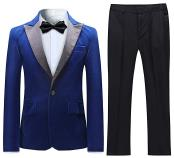 VelvetTuxedoSuitJacket&PantsBlue(IncludingBlackPants)