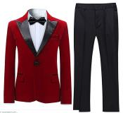 Tuxedo Suit Jacket & Pants Red (Including Black Pants)