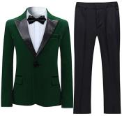 Tuxedo Suit Jacket & Pants Dark Green (Including Black