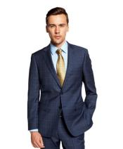 Portly Plaid Suit Indigo ~ Cobalt