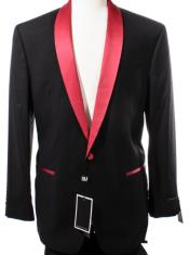 Black and Red Lapel Dinner Jacket
