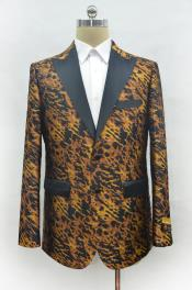 Mens Leopard Peak Lapel Cheap Priced