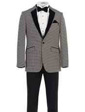 Pattern Texture Blazers Dinner Jackets Fancy