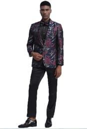 Mens Blue and Pink Tuxedo One