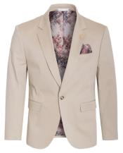 Mens Cotton Stretch Slim Fit Blazer