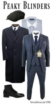 New Quality PEAKY BLINDERS Style Tweed Vested SUIT +