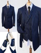 Blue Notch Lapel One Chest Pocket
