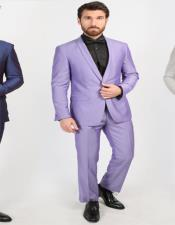 Purple Shawl Lapel One Chest Pocket Suit