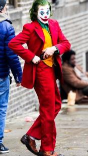 Mens Red Suit Suit With Orange