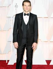 Bradley Cooper Black Three Piece Tuxedo