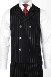 Mens Casual Double Breasted Set Vest