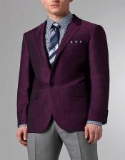 Mens Purple Linen Blazer ~ Sport