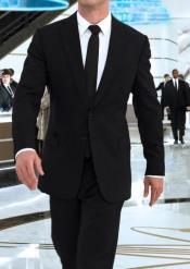 Mens in Black Suit Shirt Tie
