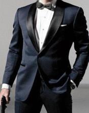 Daniel Craig James Bond Navy Blue Tuxedo Costume