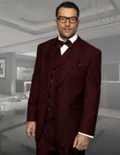 Mens Dark Brown 3 Piece Regular