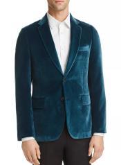 Blue Velvet Blazer Mens Sportcoat