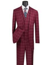 Plaid Suit 3 Piece 1920s Lapel Vest Vinci